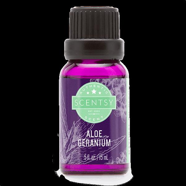 Scentsy natuurlijke oliemengsels – aloë geranium
