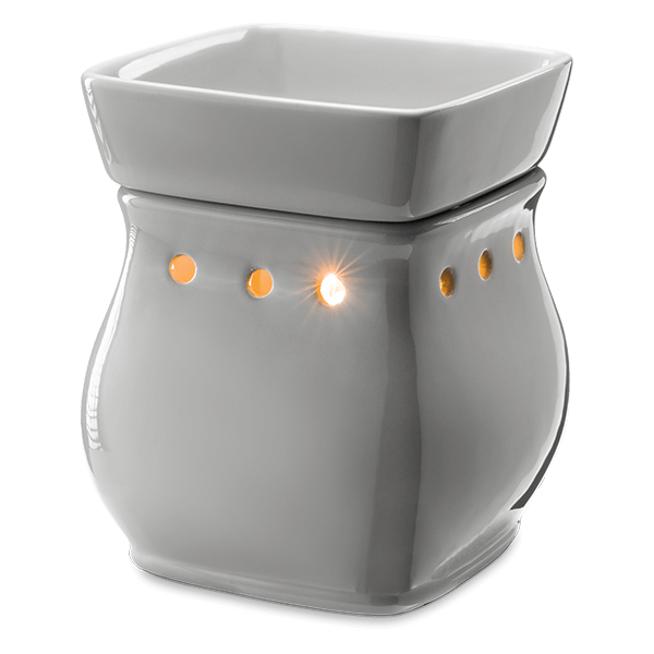 Classic curve gloss grey Scentsy warmer