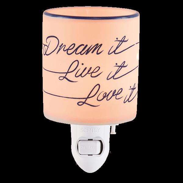 Dream it, live it, love it Scentsy mini warmer met wandstekker