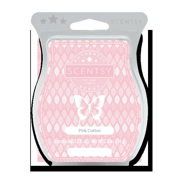 Pink cotton Scentsy waxbar