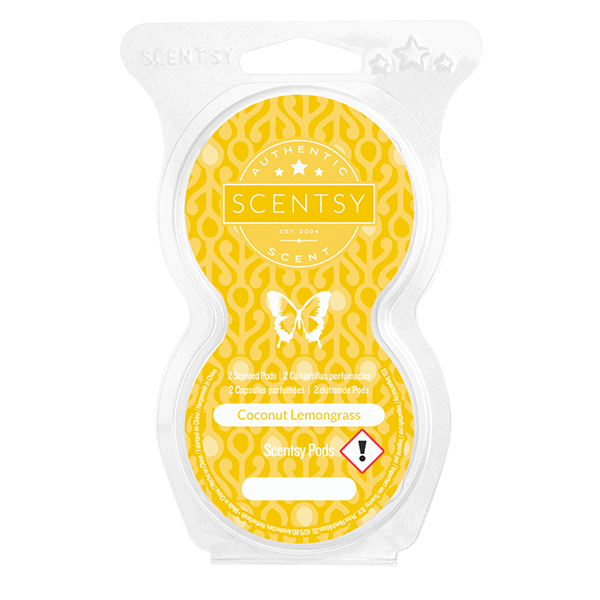 Twin pack Scentsy pods coconut lemongrass