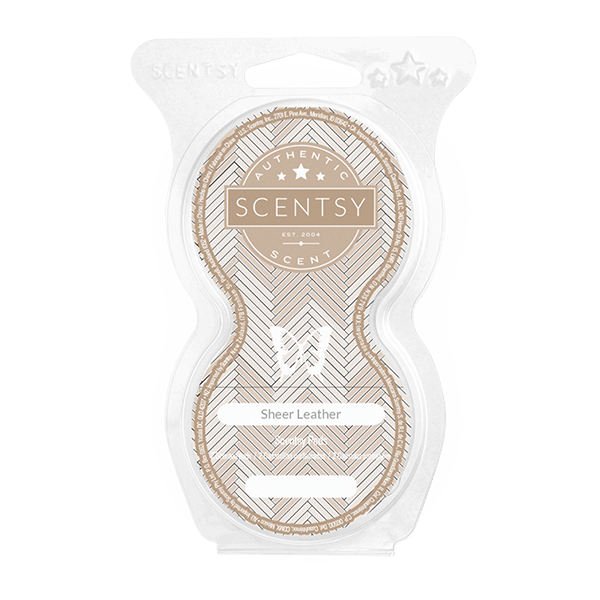 Twin pack Scentsy pods sheer leather