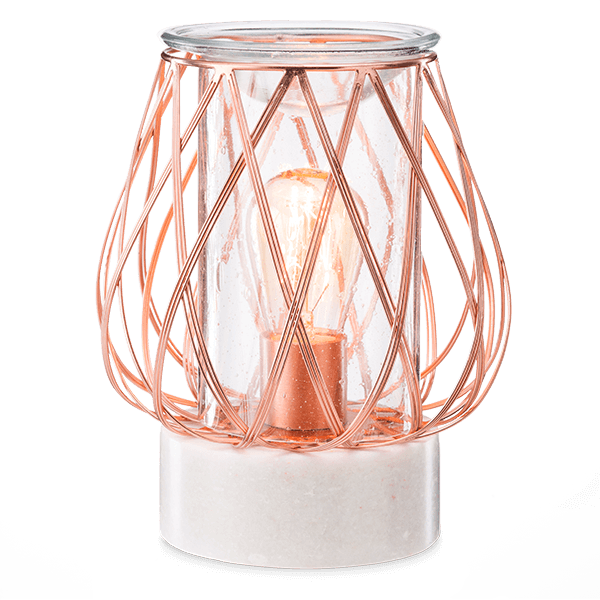 Diamond weave rose gold Scentsy warmer