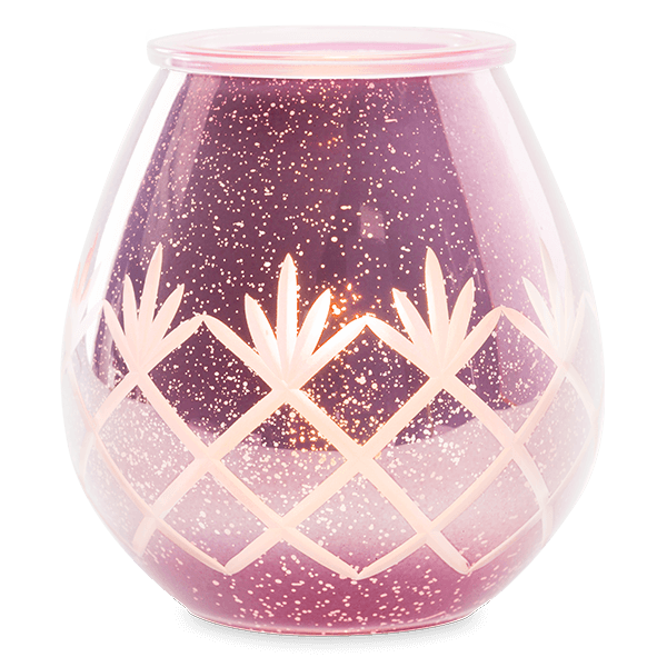 Etched lila Scentsy warmer