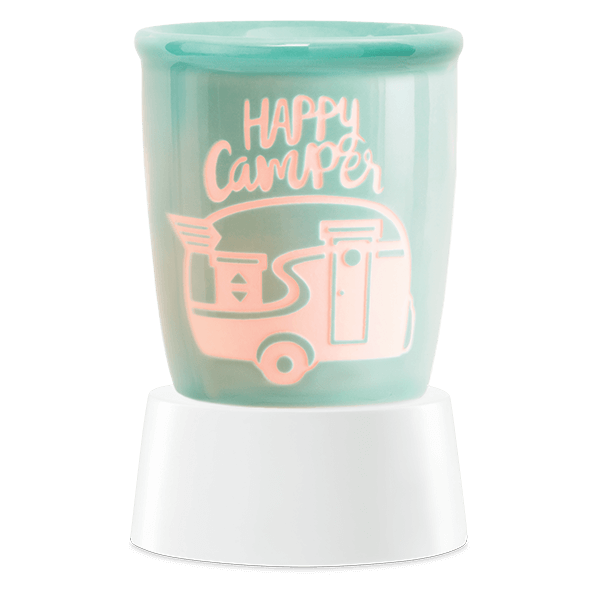 Happy camper Scentsy mini warmer met tafelstandaard