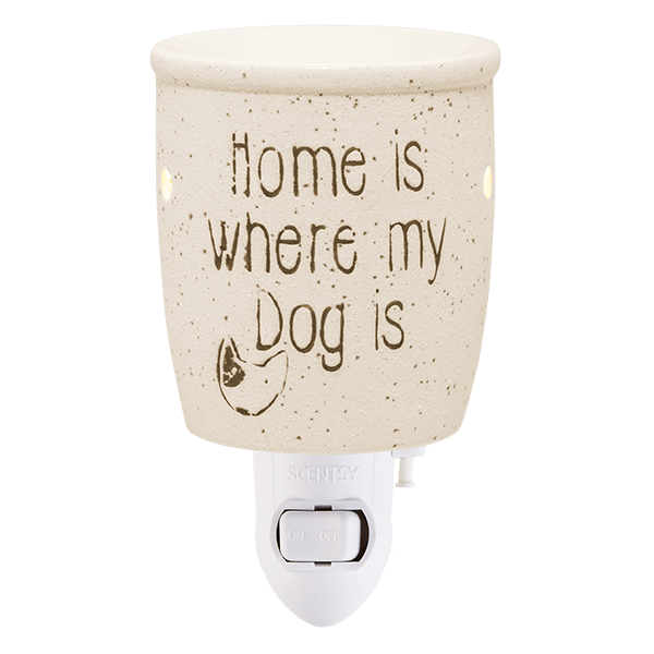 Home is where my dog is Scentsy mini warmer met wandstekker