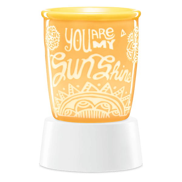 You are my sunshine Scentsy mini warmer met tafelstandaard