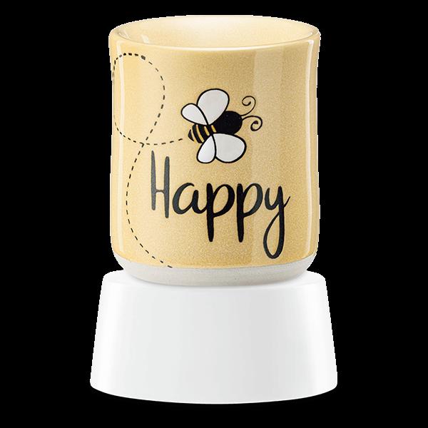 Bee happy Scentsy mini warmer met tafelvoet