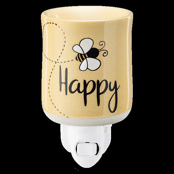 Bee happy Scentsy mini warmer met wandstekker