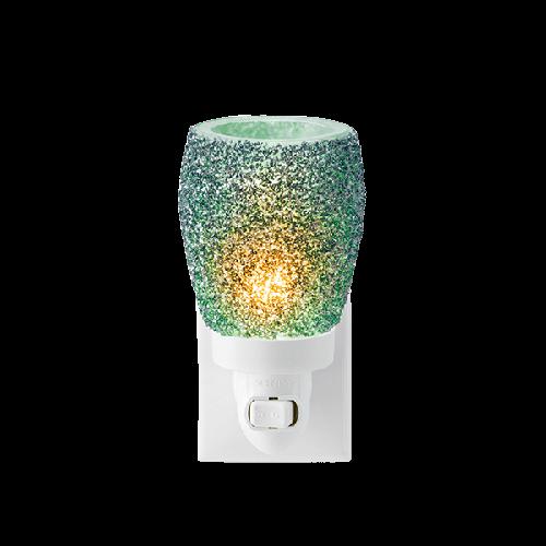 Glitter teal Scentsy mini warmer met wandstekker
