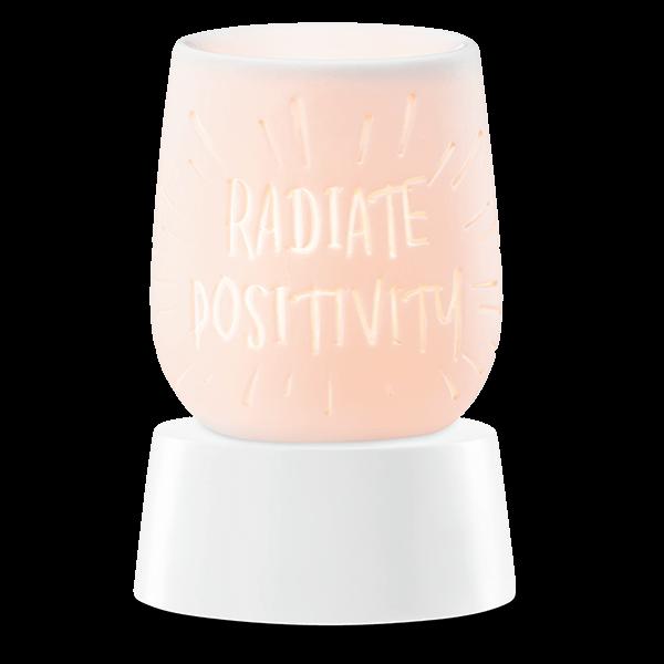 Radiate positivity Scentsy mini warmer met tafelvoet