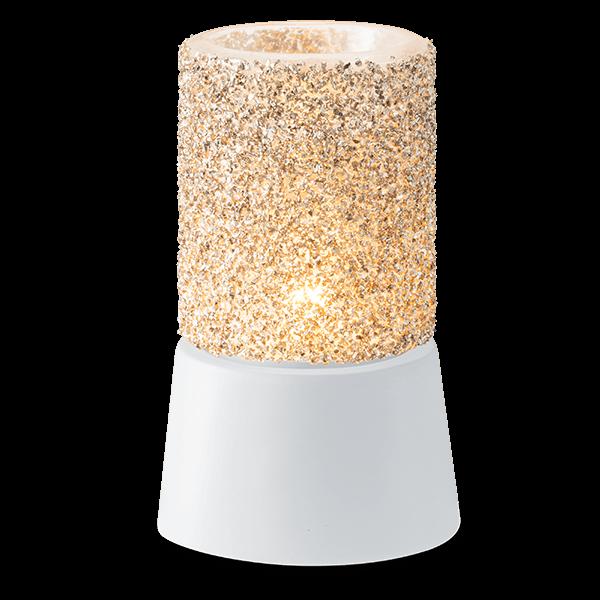 Glitter silver Scentsy mini warmer met tafelstandaard