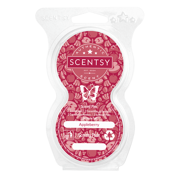 Twin pack Scentsy pods appleberry