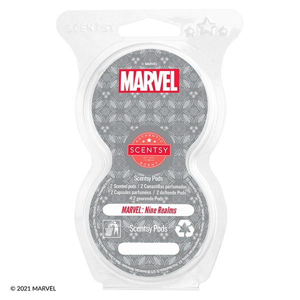 Twin pack Scentsy pods Marvel nine realms